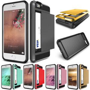 reputable site 0101b 97558 Details about Shockproof Card Pocket Holder Hybrid Slide Wallet Case Cover  For iPhone 5 5s SE