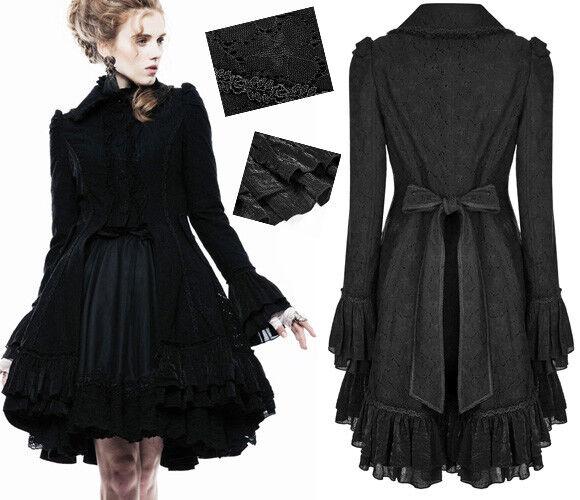Manteau dentelle veste gothique lolita baroque noeud volants brillant PunkRave
