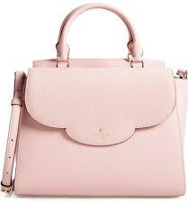 Kate Spade Makayla Leewood Place Leather Satchel Handbag Purse Pink Granite NWT