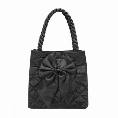 NaRaYa Satin Quilted Square with Ribbon Handbag