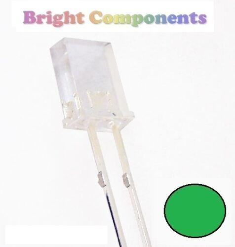 10 x Rectangle Green LED 2x3x4mm UK 1st CLASS POST