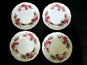 ROYAL-SUTHERLAND-STAFFORDSHIRE-ENGLAND-6-034-Porcelain-PLATES-034-ROSE-GARLAND-034