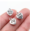 50Pcs Antique Silver Bronze Heart love my Dog Charms Pendant For Jewelry 13x10mm