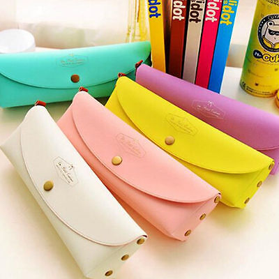 Leather Makeup Cosmetic Brush Pen Pencil Case Organizer Brush Holder Pouch Bag