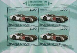 1954-55 Mercedes-benz W196 Formule 1 F1 Gp Course/voiture De Course Timbre Feuille (2012) Riche Et Magnifique