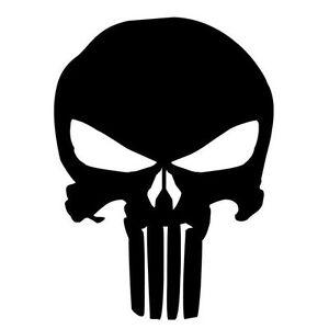 Adesivo-sticker-Skull-Punisher-vinile-auto-moto-scooter-car-tuning-teschio-NERO