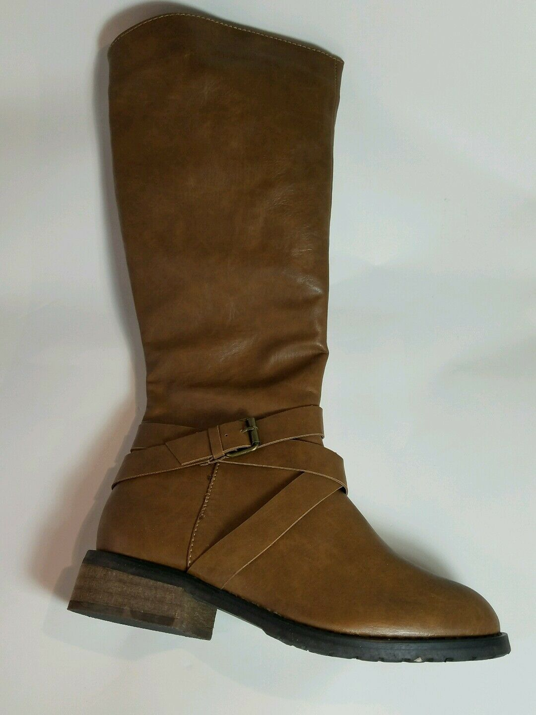 Bucco Capensis Venita Cognac Tan/Brown Riding Boot SIZE 7 BOX IS DISTRESSED