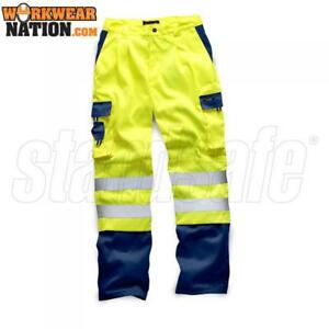 Standsafe-HV039-HIGH-VISIBILITY-2-TONE-POLYCOTTON-TROUSER-YELLOW