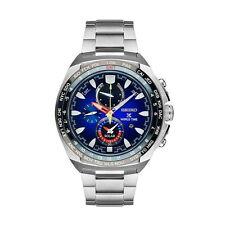 NEW Seiko SSC549 Prospex World Time Solar Men's Watch Chronograph Blue Dial