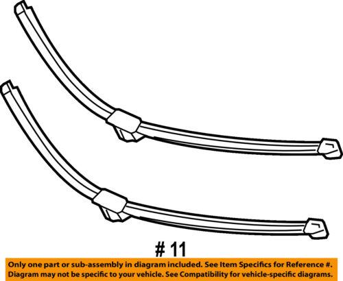 MERCEDES OEM 13-18 SL65 AMG-Wiper Blade 2318201045