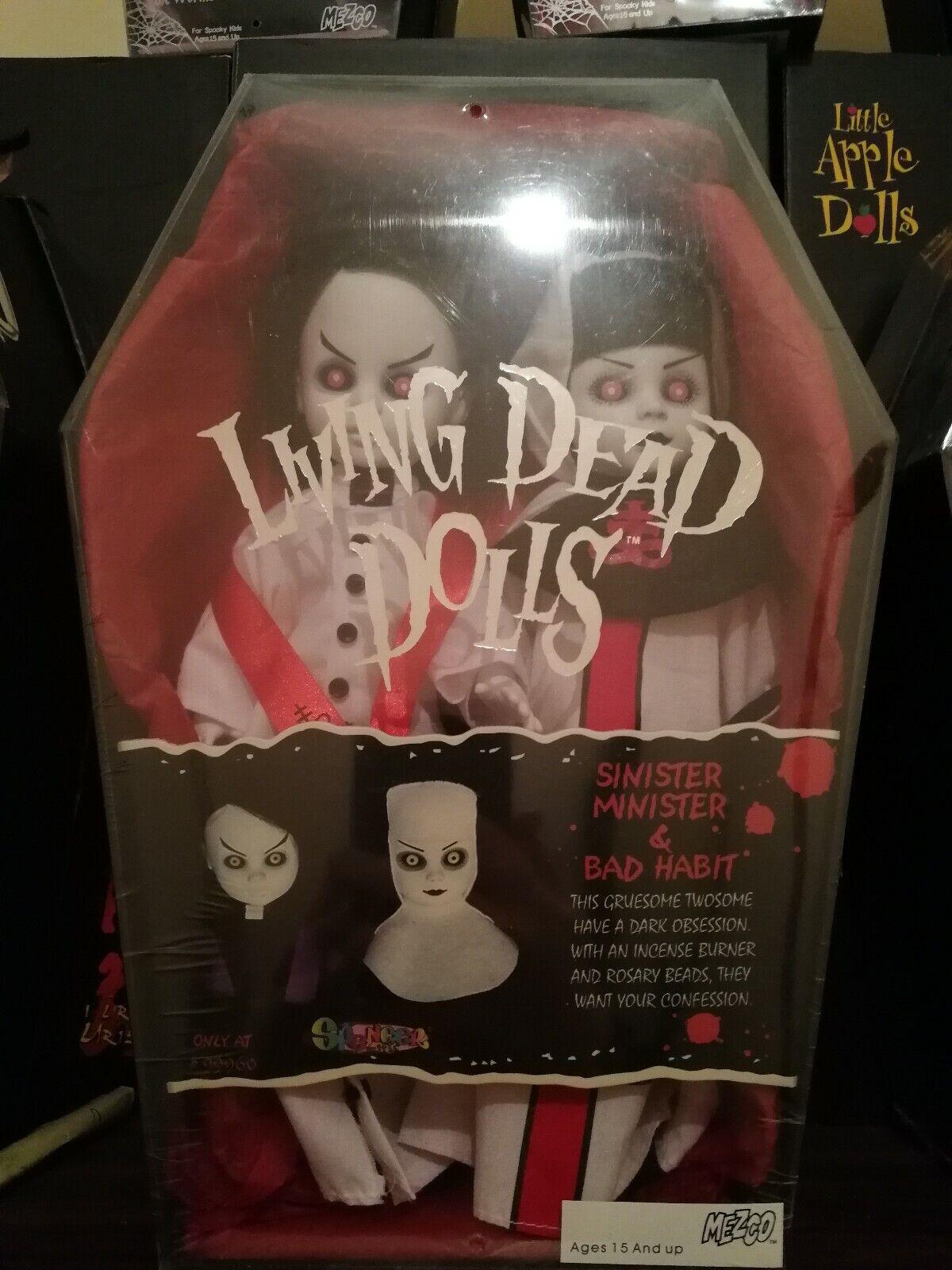 Living Dead Dolls siniestro ministro y mala costumbre-blancoo Versión
