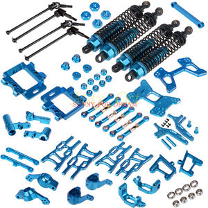 Upgrade-Parts-Package-For-HSP-RC-1-10-Off-Road-Buggy-94107-BLUE-Electric-Nitro