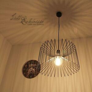 moderno-luce-a-sospensione-46cm-NERO-Lampada