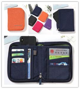 Sac de voyage porte-document organisateur zippé passeport ticket id holder