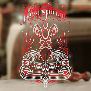Holy Garage V8 Pinstriping Sticker Decal Pinstripe Hot Rod Old School Moon Red Ebay