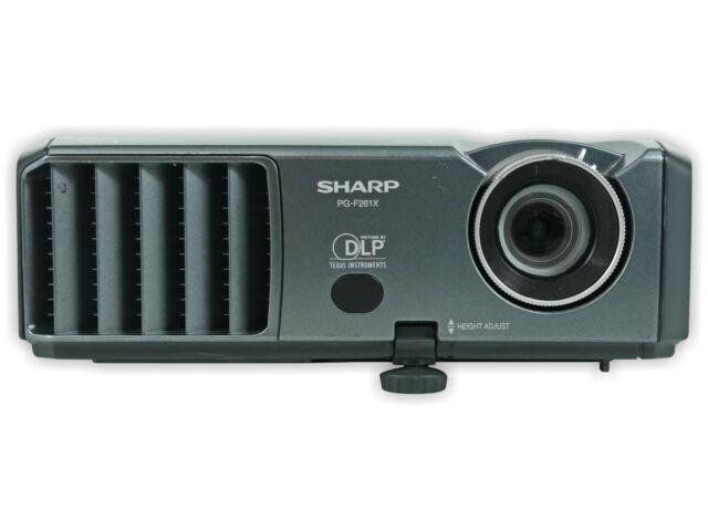 Sharp PG-F261X DLP Projector Portable 2600 Lumens HD HDMI-adapter bundle
