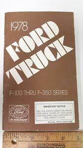 1977-FORD-Econoline-Original-NOS-Owner-039-s-Manual-Excellent-Condition-US