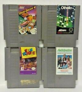 Nintendo-NES-Game-Lot-Tested-Authentic-Othello-Anticipation-Fun-House-Vegas-Drea