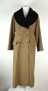 Long Petite Collar Uk Trench Ladies Faux 10 Fur Coat Blend Wool Precis Mocca FCw4xq