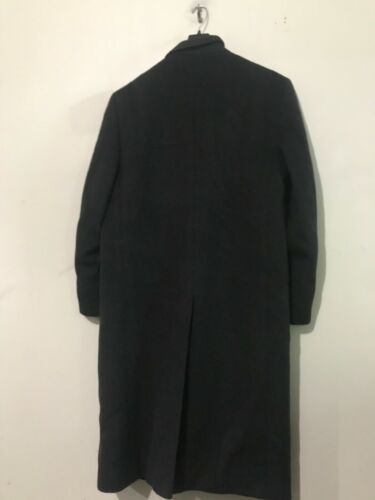 Ron Chereskin Cashmere Blend Italy Size 40R Black Long Coat Men Quality Formal