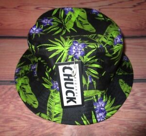 Image is loading MENS-CHUCK-FLORAL-TROPICAL-BUCKET-HAT-ONE-SIZE c69bef70572