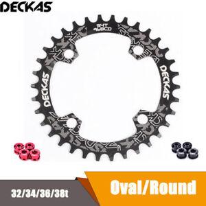 DECKAS-MTB-Bike-32-34-36-38T-Sprocket-Narrow-Wide-Round-Oval-BCD-96mm-Chain-Ring