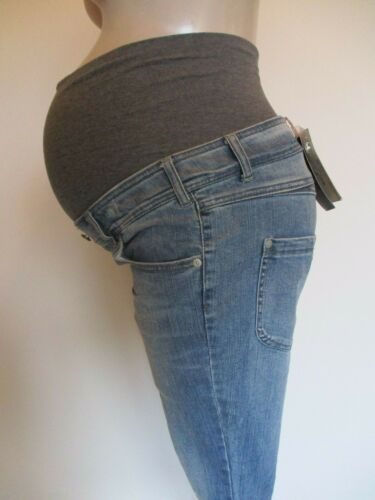 MAMALICIOUS MATERNITY BLUE DENIM 3//4 LENGTH JEANS CROPPED SIZE 6 8 10 12 14 BNWT