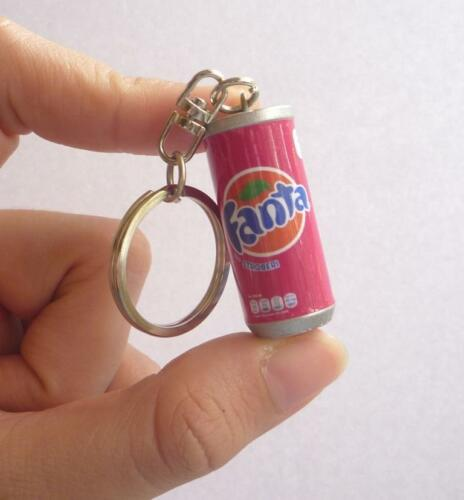 "FANTA Strawberry CAN Stoberi KEYCHAIN Keyring Novelty Indonesia 3D 1.5/"" Acrylic"