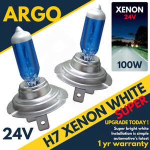H7-24v-100w-8500k-Xenon-Hid-Muy-Blanco-Cuero-Aspecto-Faro-Delantero-Luces
