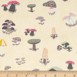 Art-Gallery-Fantasia-by-Sara-Lawson-4080-Mushrooms-Fable-Cream-FQ-Metre