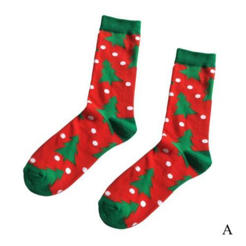 Christmas Gift Men Winter Warm Cotton Socks Santa Claus Reindeer Snowman Bear