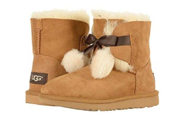 910c435722d UGG Australia Girls' Gita Sheepskin Fashion Boot Chestnut 5 Big Kid