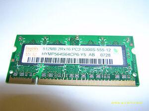 Hynix HYMP564S64CP6-Y5 AB Laptop DDR2 RAM 512MB 667mhz 200pin