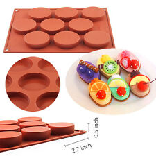 9-Cavity Silicone Muffin Cookie Brownie Cornbread Cheesecake Pudding Soap Mold