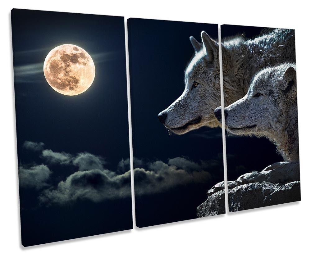 Lienzo Enmarcado agudos agudos agudos Lobo Luna Impresión Parojo Arte 0fcabf