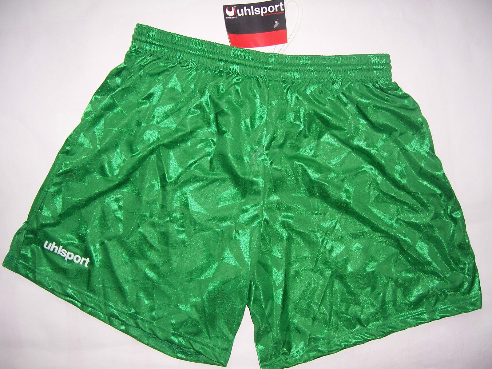SHORT Football VINTAGE Uhlsport neuf années 90'S coloris vert vert vert taille XL  protección post-venta