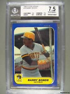 1986-Fleer-Update-14-BARRY-BONDS-Beckett-NM-7-5-RC