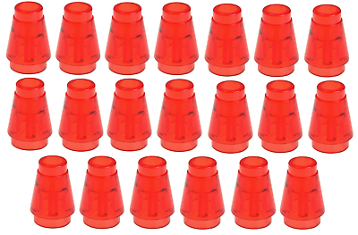 Lego Red Nose Cone Small 1x1 20 pieces NEW!!!