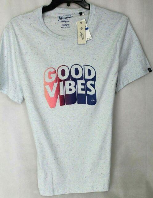 Original Penguin Premium Graphic Tee Shirt GOOD VIBES  MSRP $45 NWT COOL! - XL