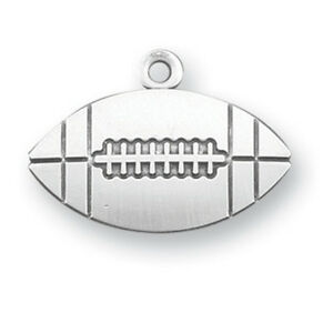 Lord Jesus Christ Football Shape Athlete Sports Medal Necklace By