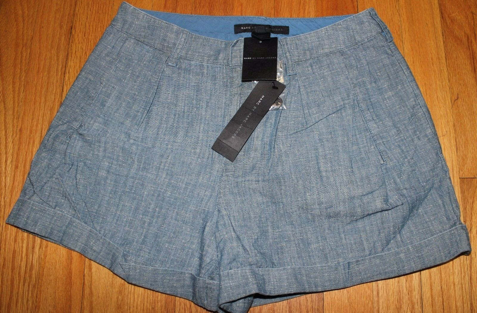 168 MARC BY MARC JACOBS DARK SEA blueE 100%COTTON SHORTS US 2