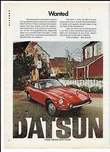 Vintage-1972-Red-Nissan-DATSUN-240-Z-Ad-Wanted