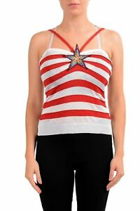 Just-Cavalli-Women-039-s-Striped-Knitted-Tank-Top-US-S-IT-40
