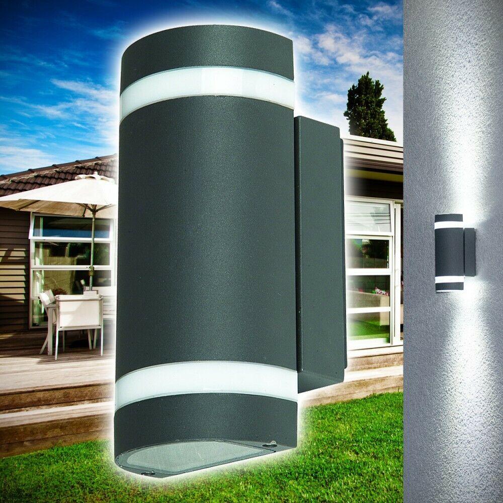Luces exterior muro exterior lámpara de aluminio jardín lámpara de parojo patio lámparas de parojo
