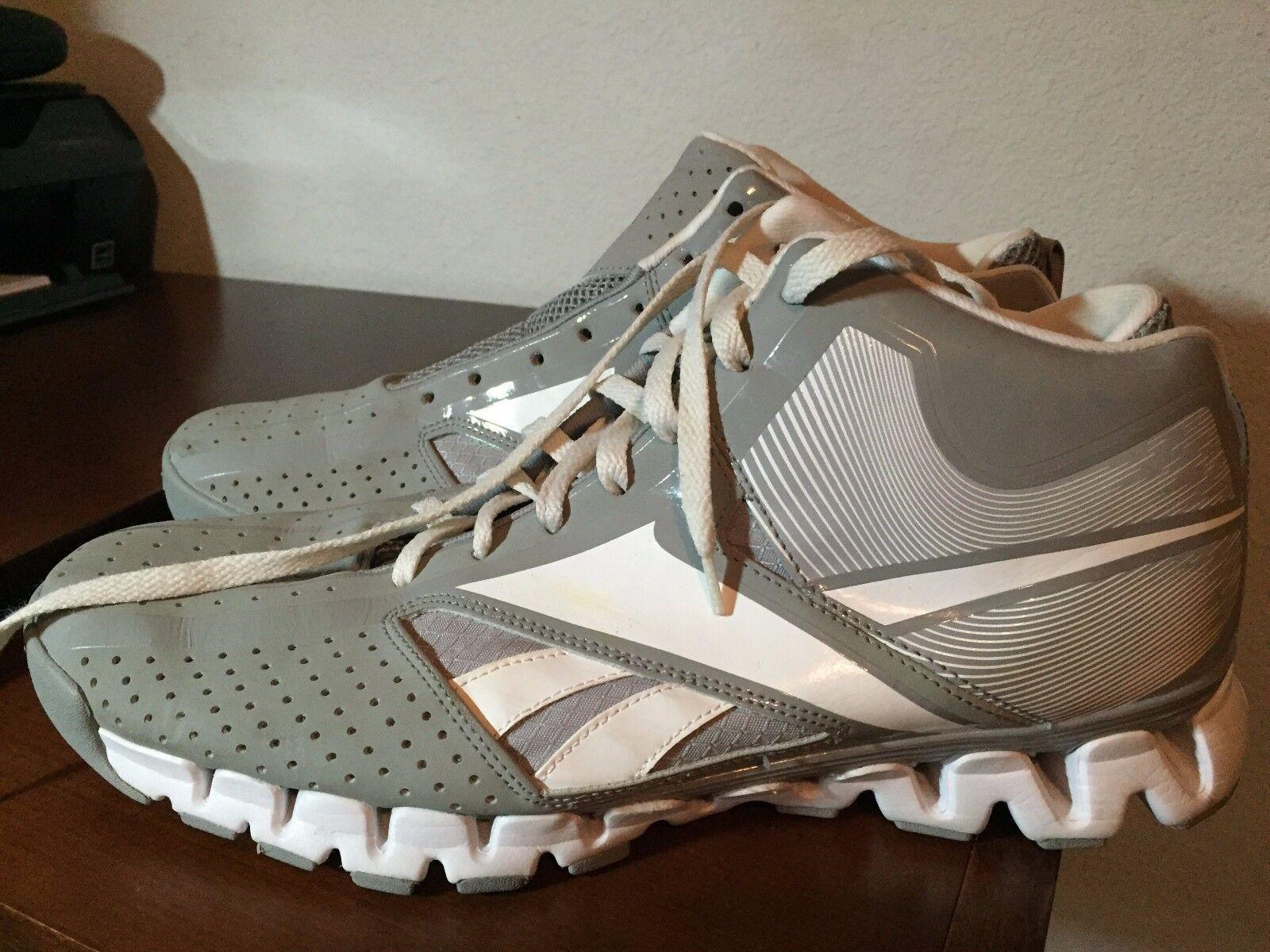Reebok Show Down Series Zig Nano Grey White Basketball shoes Size 12