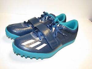 promo code 4606f 79dc7 Image is loading Adidas-Jumpstar-Running-Track-Shoes-Navy-White-Green-