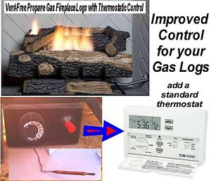 Gas Log Thermostat Non Electric Conversion To Electric Electronic Control Kit Ebay