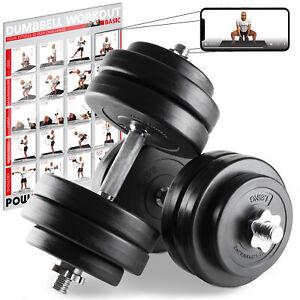Mancuerna-set-20-30-o-40kg-incl-Workout-i-hantelset-con-plastico-discos
