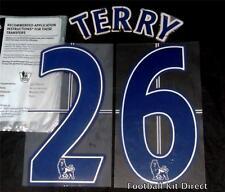 Chelsea Terry 26 Premier League Name/Number Set Football Shirt Lextra 07-13 Blue