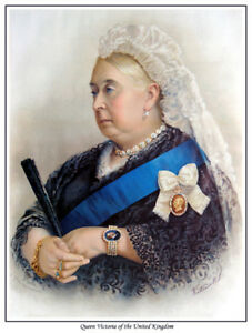 NOW AVAILABLE AS CANVAS PRINT,TOO !! QUEEN VICTORIA OF THE UNITED KINGDOM PRINT